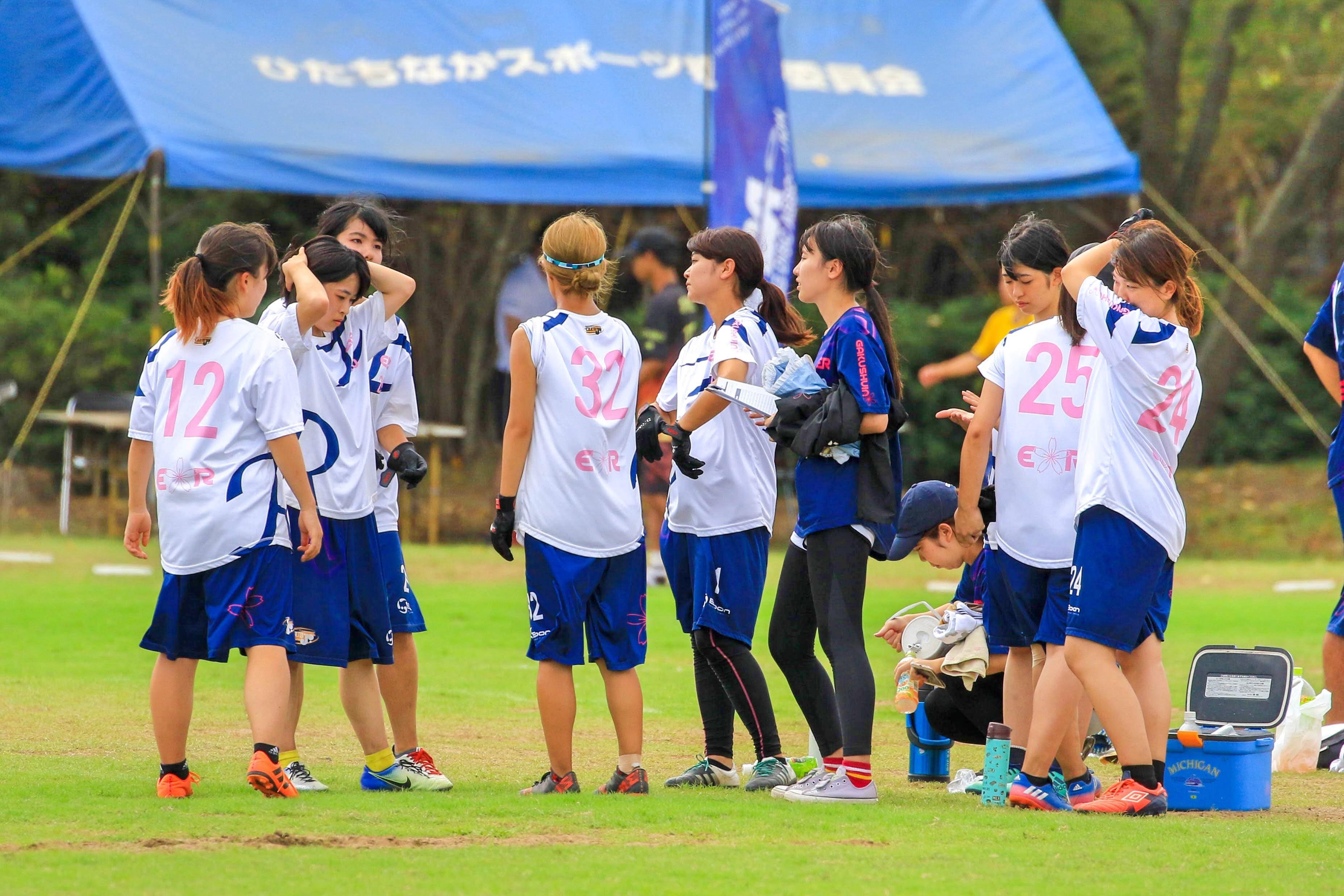 女子の大学選手権の様子