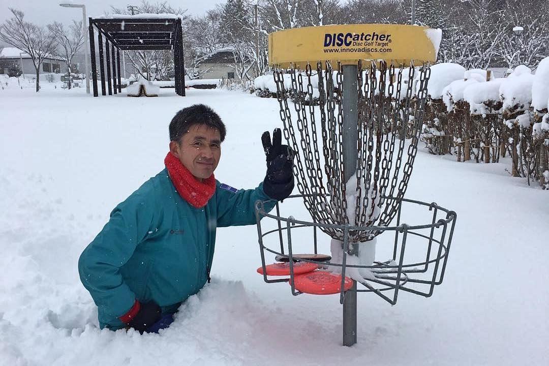 地元の公園のディスクゴルフコース