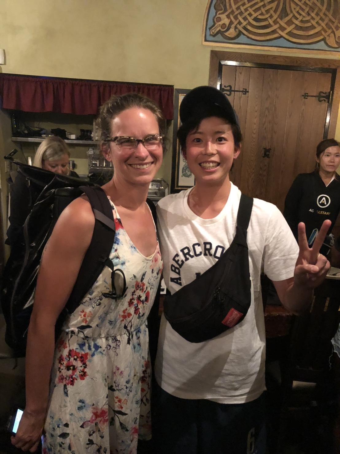 アジアオセアニアオールスターでの吉田選手とアリッサ。